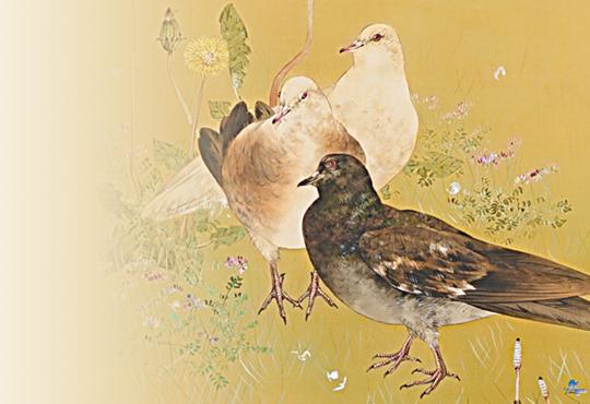 世界で身近な鳥の存在意義:春野鳩之図