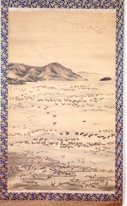 森徹山《群鳥図》 熊本県立美術館蔵