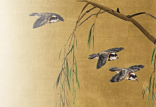 後頭部の思い込み:花鳥図屏風
